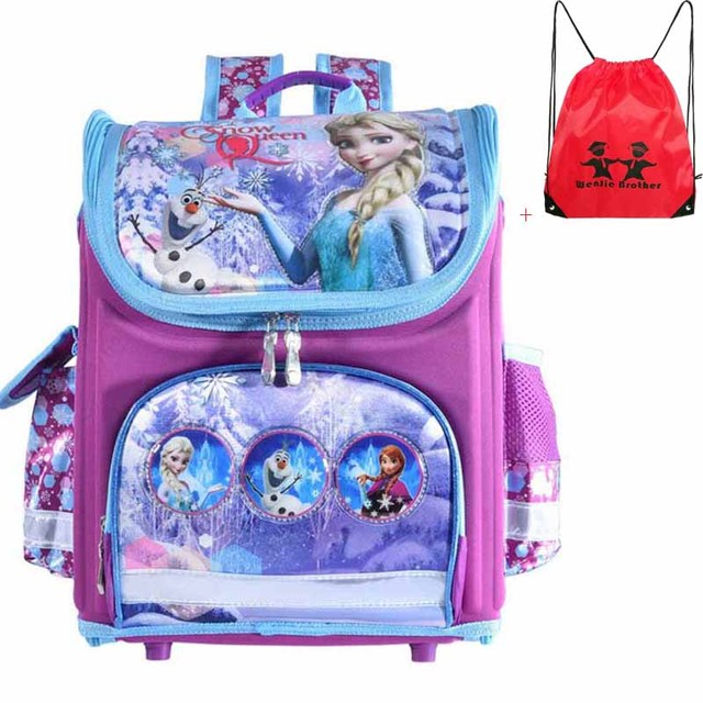 New arrivel backpack snow queen School Bag Orthopedic Children School Bag cars School Backpack Mochila Infantil for girls