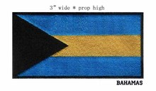 Bahamas 3 wide embroidery flag patch free shipping applique badge/all for sewing/kids patches