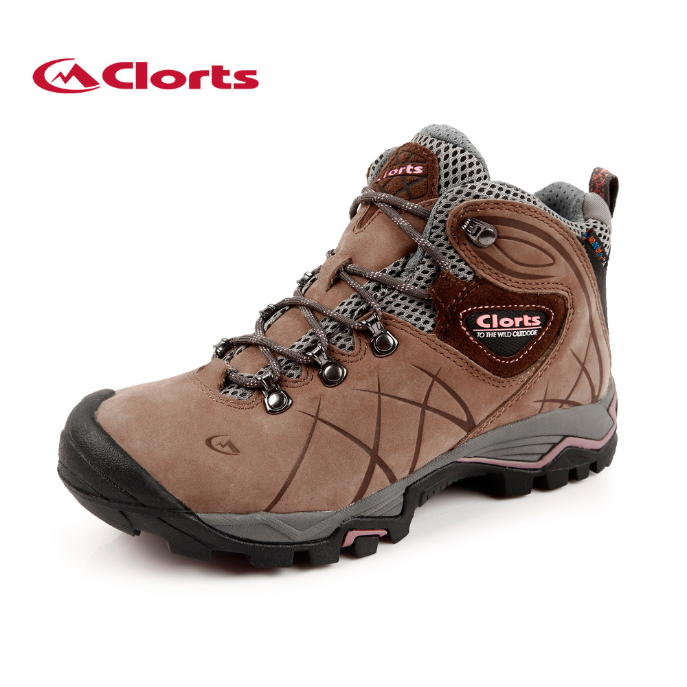 2017 Clorts Womens Hiking boots Waterproof Outdoor Sport Shoes Breathable Climbing Shoes Nubuck For Women Free Shipping HKM-802B kelme 2016 new children sport running shoes football boots synthetic leather broken nail kids skid wearable shoes breathable 49