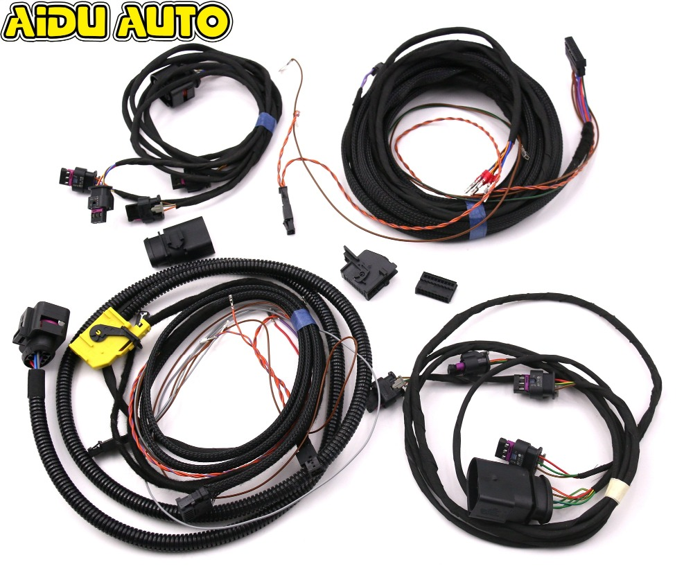 USE FOR VW Golf 7 MK7 VII Parking Front&Rear 8K PDC OPS Install Harness cable wire park pilot parking front and rear 8 sensors update 8k pdc ops for skoda mqb octavia