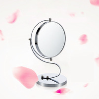 Cute & Curvy Double Sided Magnifying Makeup Mirror Table Mirror w/1 x 3x Magnification Vanity Countertop, 7 Inch