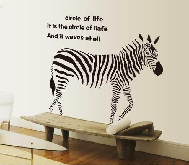 Online Shop Fumetto Nero Zebra Wall Stickers Citazioni Rimovibile ...
