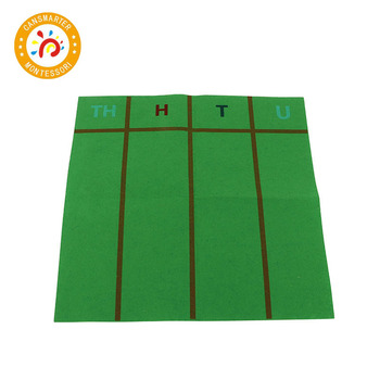 цена на Baby Toy Montessori Material Felt Mat Wooden Toy Math Teaching Aids Early Education