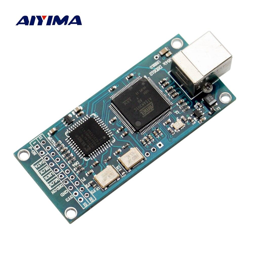 Aiyima ATSAM3U1C XC2C64A Amanero USB IIS Digital Interface DAC Decoder Board Support DSD512 32bit 384K I2S DSD Output aiyima cm6631a dac board digital interface card usb to iis spdif output 24bit 192k