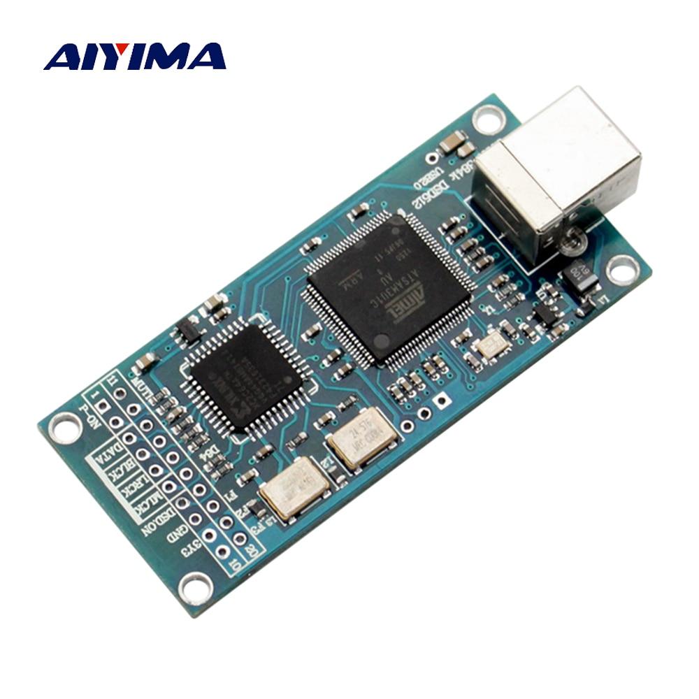 Aiyima ATSAM3U1C XC2C64A amanero USB IIS interfaz digital DAC soporte DSD512 32bit 384 k I2S DSD salida