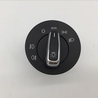 for Skoda Octavia Chrome Auto Headlight Switch Fog Lamp Head Light Control Button 1ZD 941 431 B