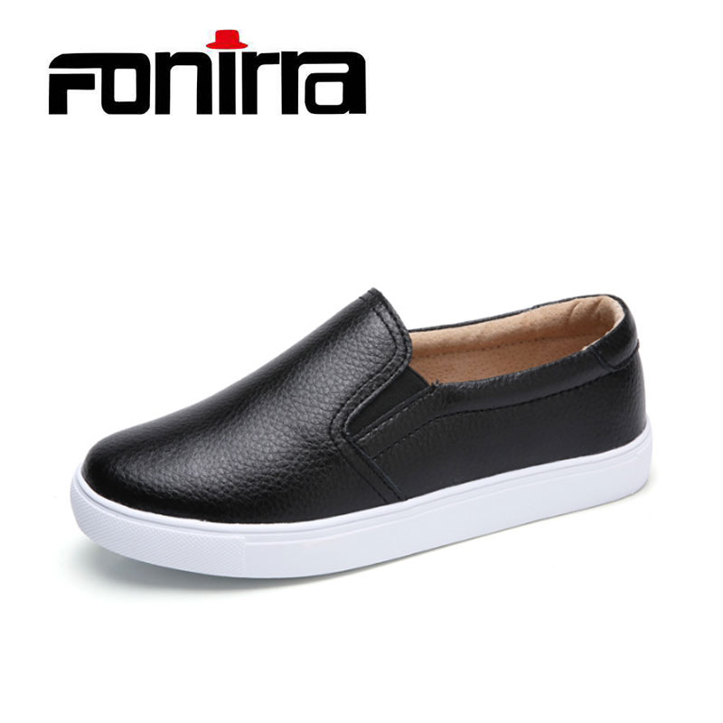 FONIRRA Women Platform Loafers Flats Shoes Genuine Leather Slip on Ladies Moccasins white Sole Rubber Female Black Fashion 123 fashion women flats platform shoes creepers summer women casual shoes loafers slip on white black moccasins chaussure femme