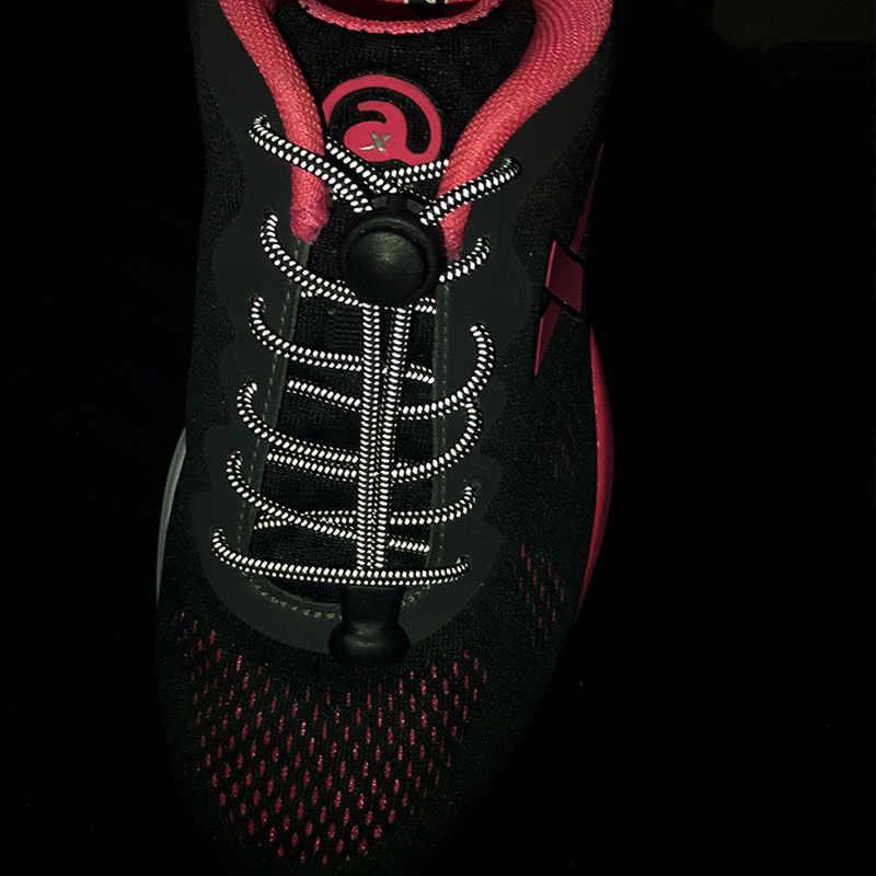 1 para noc blask elastyczne sznurowadła sznurowadła/Jogging/Triathlon/Sport Fitness Multicolor koronki czarny klamra blokowanie sznurowadła