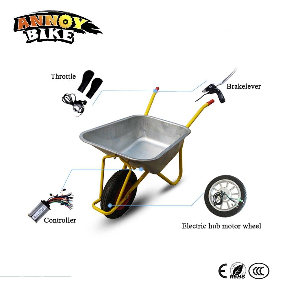 14inch Elecetric Wheelbarrow kit Single Wheel High Torque Gear Wheelbarrow Hub Motor Kit 24v 36v For Farm Forest Soil Land Grass цена 2017