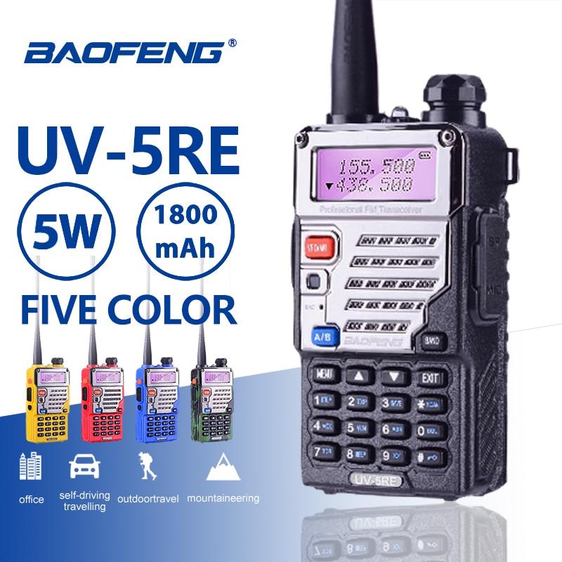 Baofeng UV-5RE Walkie Talkie Super Signal Dual Band Handheld Two Way Ham Radio Communicator UV-5R Plus CB HF Transceiver Amateur