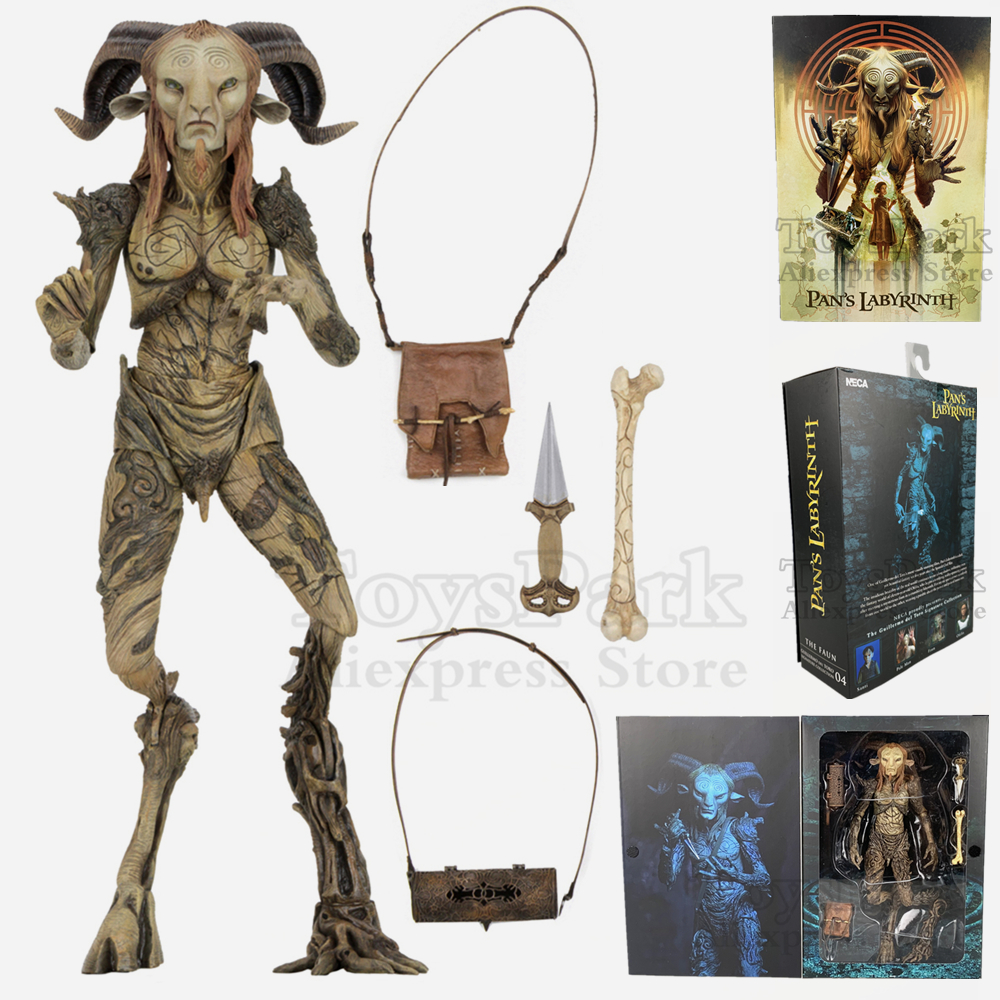 "Neca Guillermo Del Toro Signature Collection Pan's Labyrinth Faun 7"" Scale Action Figure El Laberinto Del Fauno Doll Toys"