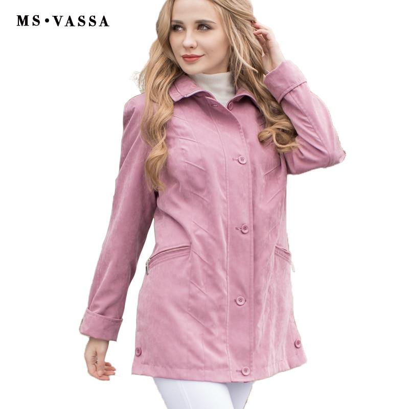 MS VASSA Women jacket 2017 New Autumn Sp