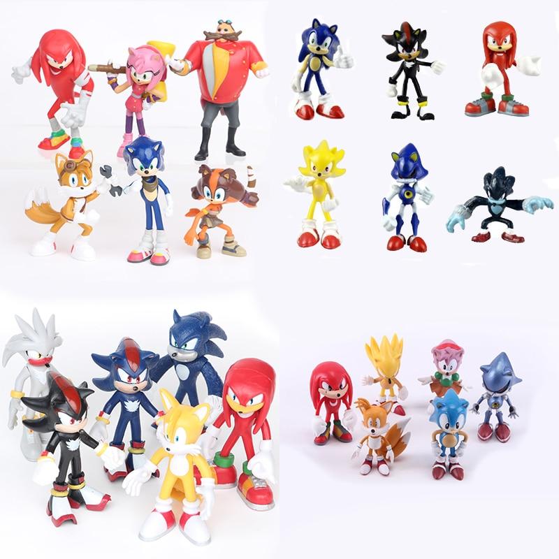 6pcs/set 7cm <font><b>Sonic</b></font> Boom Rare Dr Eggman <font><b>Shadow</b></font> <font><b>Sonic</b></font> <font><b>The</b></font> <font><b>Hedgehog</b></font> <font><b>Action</b></font> Figures Toy PVC <font><b>Shadow</b></font> Tails Characters Figure Gift