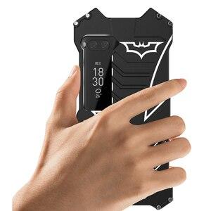 Image 3 - 360 전신 보호 박쥐 케이스 meizu 프로 7 플러스 프로 6 알루미늄 금속 범퍼 커버 oneplus 7 프로 7 t 5 5 t 6 6 t 전화 케이스