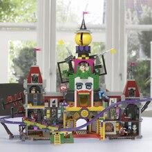 Лепин 2018 Новый Legoing Джокер Manor Batman Movie 70922 3857 шт. модель здания Конструкторы кирпичи игрушечные лошадки для детей подарки 07090