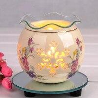 Fragrância Difusor Umidificador Aromaterapia Cerâmica Lâmpada Da Fragrância elétrica Warmer Queimador de Óleo Essencial SPA/Yoga Aroma Terapia