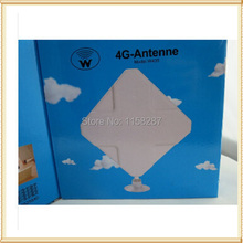 цена на Free shipping White35dBi 4G External Antenna CRC9 Connector Booster Signal Amplifier 2M Cable