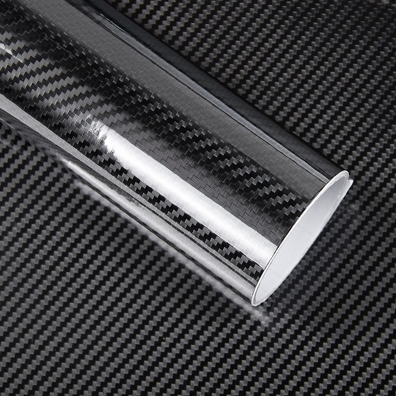 цена на Car Styling 200cm*50cm Glossy Black 5D Carbon Fiber Vinyl film Car Wrap With Air Free Bubble DIY Car Part Sticker Accessories