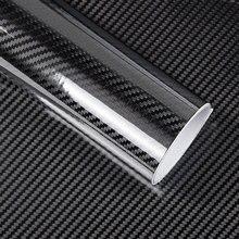 Revestimiento para coche con burbuja sin aire, adhesivo para coche 5D, 200cm x 50cm, color negro brillante, Película de vinilo de fibra de carbono
