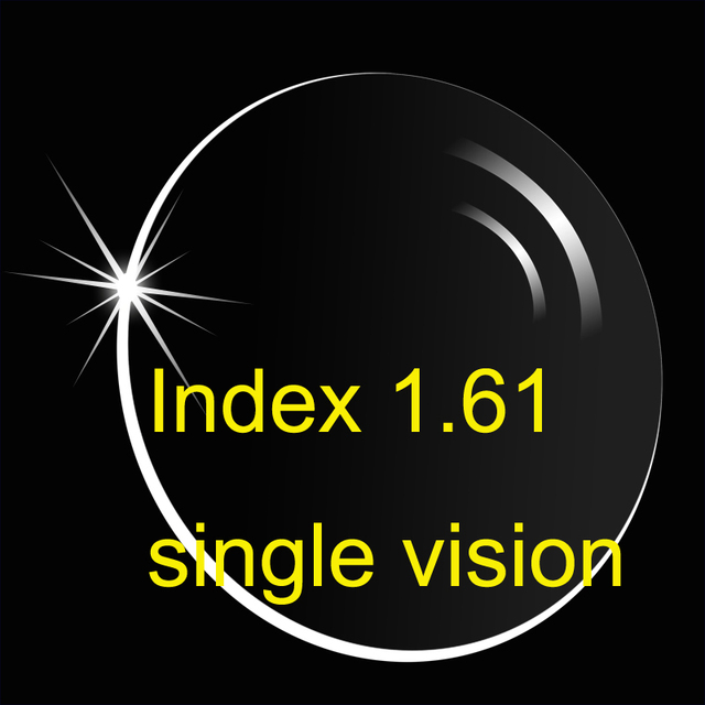 1.61 высокий индекс единое видение ( UV400 ) HMC / тонкий / aspherice / анти - и царапинам