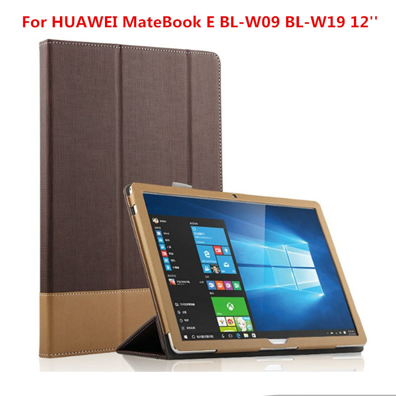 High Quality Fashion Business PU Leather Flip Cover Shell Protective Case For HUAWEI MateBook E BL-W09 BL-W19 12 inch Tablet PC huawei matebook hz w19 256gb gold dock