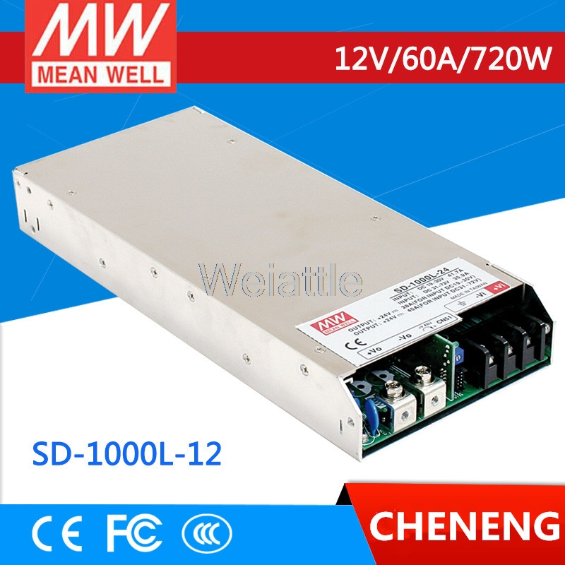 цена на MEAN WELL original SD-1000L-12 12V 60A meanwell SD-1000 12V 720W Single Output DC-DC Converter