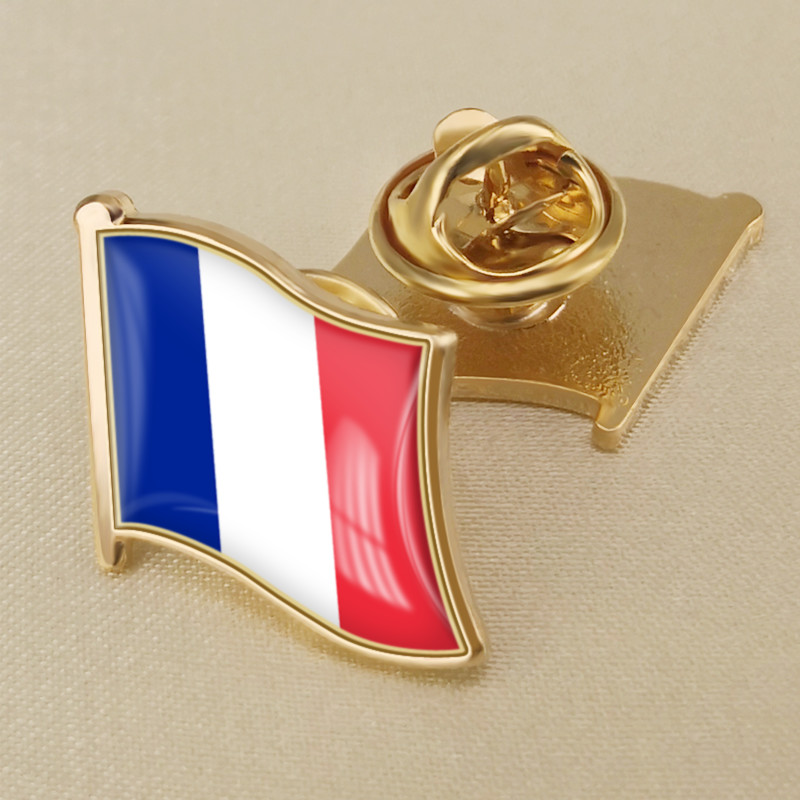 France French Country Flag Enamel Pin Badge