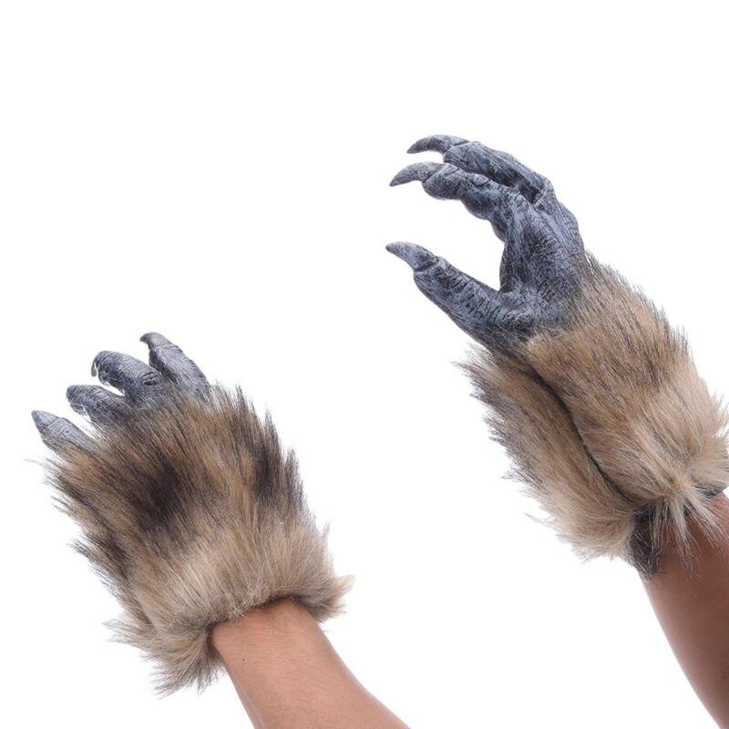 Horror Latex Tier Wolf Klaue Handschuh Kleid Kostüme Cosplay Halloween Karneval Bar Requisiten Partei Masken