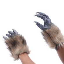 Horror Latex Animal Wolf Claw Glove Dress Costumes Cosplay Halloween Carnival Bar Props Party Masks-in Party Masks from Home & Garden on Aliexpress.com | Alibaba Group