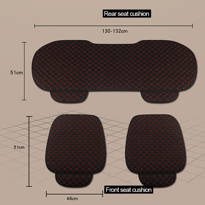 Image 2 - Car Accessories Car Seat Cover Flax Car Seat Protector Cushion Automobiles Seat Covers Set Universal Interior Auto Accessories-in Automobiles Seat Covers from Automobiles & Motorcycles
