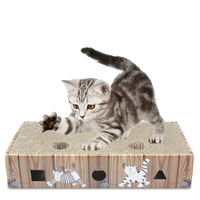 Cat Toy Scratching Board Large Hole Hole Ball Scratching Board Box Hollowed Out Cat Scratching Board