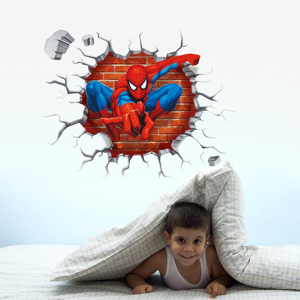 Spiderman pegatinas de pared para habitaciones de niños Kids Nursery calcomanías