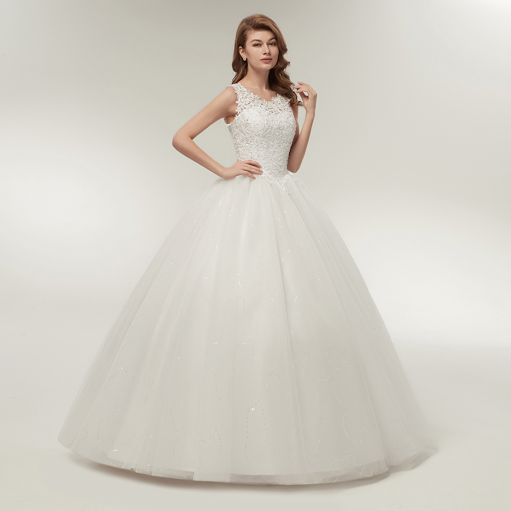 Korean Princess Style Lace Up Ball Gown Quality Wedding Dress 1