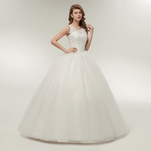 Fansmile Korean Lace Up Ball Gown Quality Wedding Dresses 2019 Alibaba Customized Plus Size Bridal Dress Real Photo FSM-002F