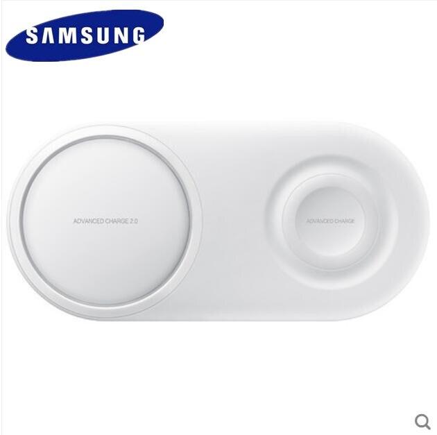 Original Samsung nouveau 2019 double chargeur sans fil base téléphone Mobile montre rapide sans fil charge pour S10 S9 Plus S7 S6 NOTE9