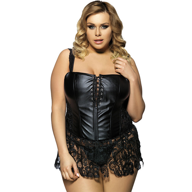 New Women Sharpers Leather Corset for woman Plus Size Corset Big Size Sexy Lace Sharpers