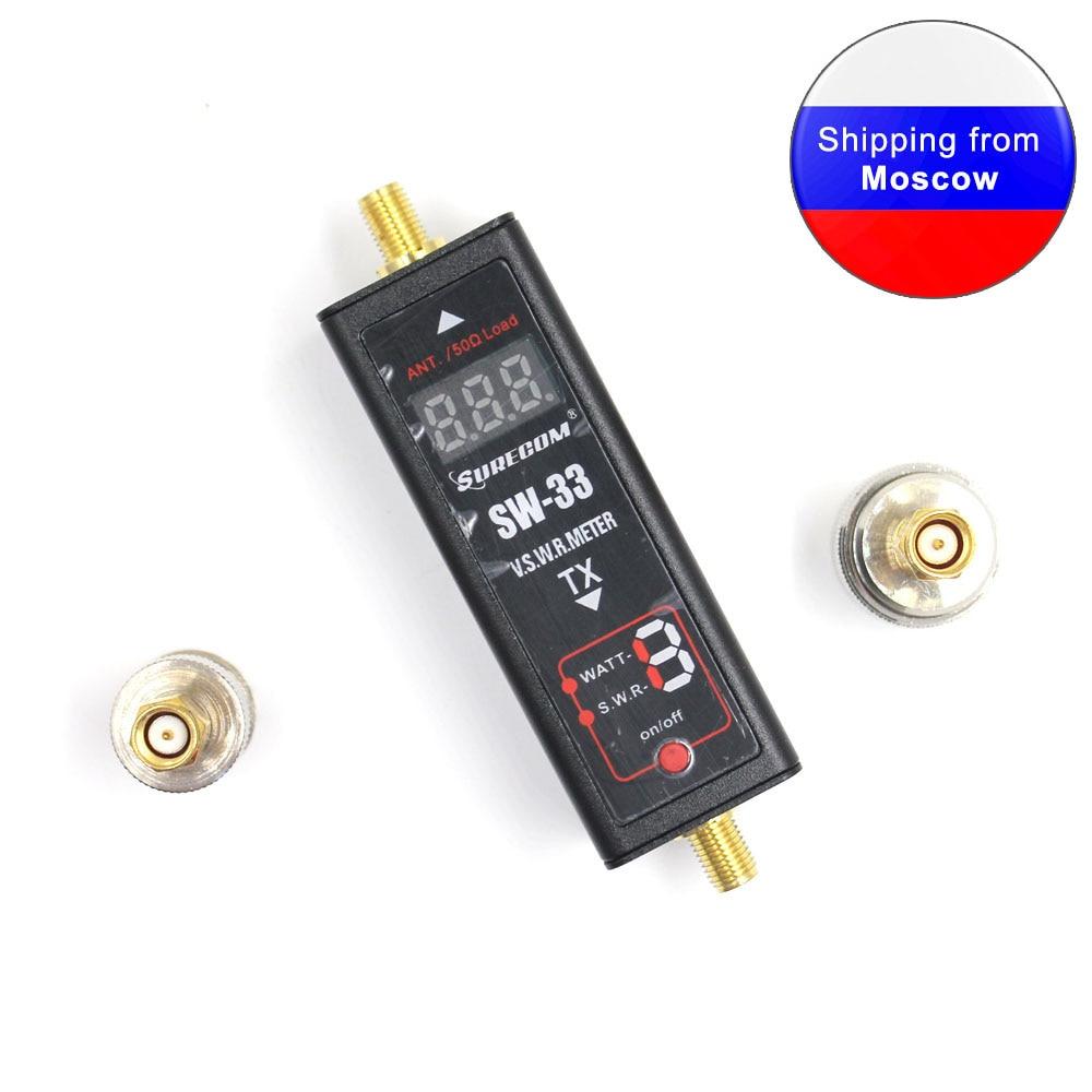 Surecom SW33 Mini Power&SWR Meter VHF/UHF 125-525Mhz Portable Tester For Ham Walkie Talkie