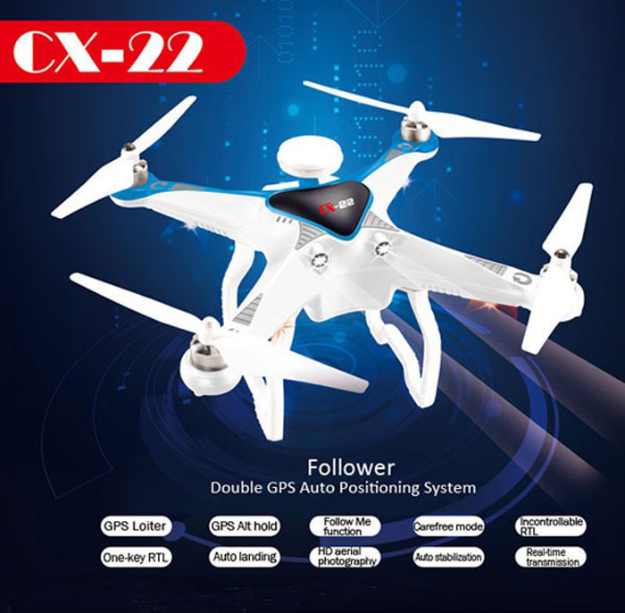 Cheerson CX22 CX 22 Follower 5 8G Dual GPS FPV With 1080P Camera Quadcopter font b