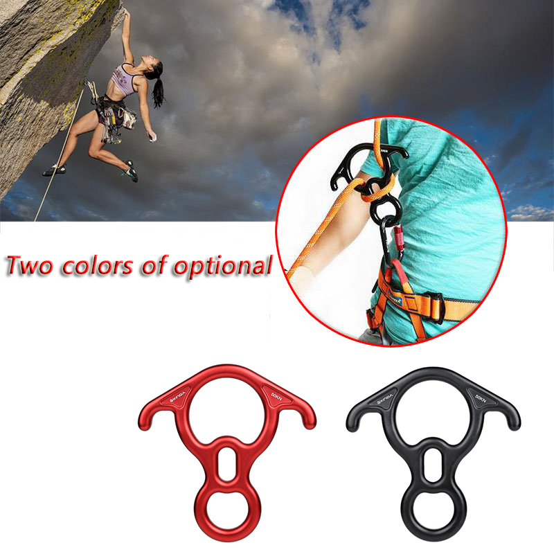 HobbyLane Outdoor 40KN 8 Ring Ox Horn Hoop Slow Descent Devices Climbing Downhill Protective Abseiling Mountaineering Equipment