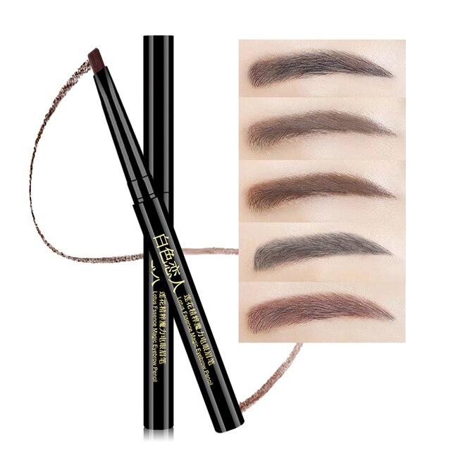 5 Colors 24 Hours Long-lasting Eyebrow Pencil Soft And Smooth Fashion Eye 0.4g Lotus Series Makeup