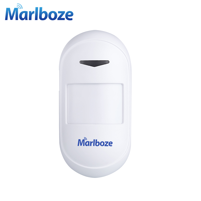 Marlboze 433MHZ Universal Wireless PIR Infrared Motion Sensor for Our Home Security GSM PSTN WIFI Alarm System DC5V Power Supply