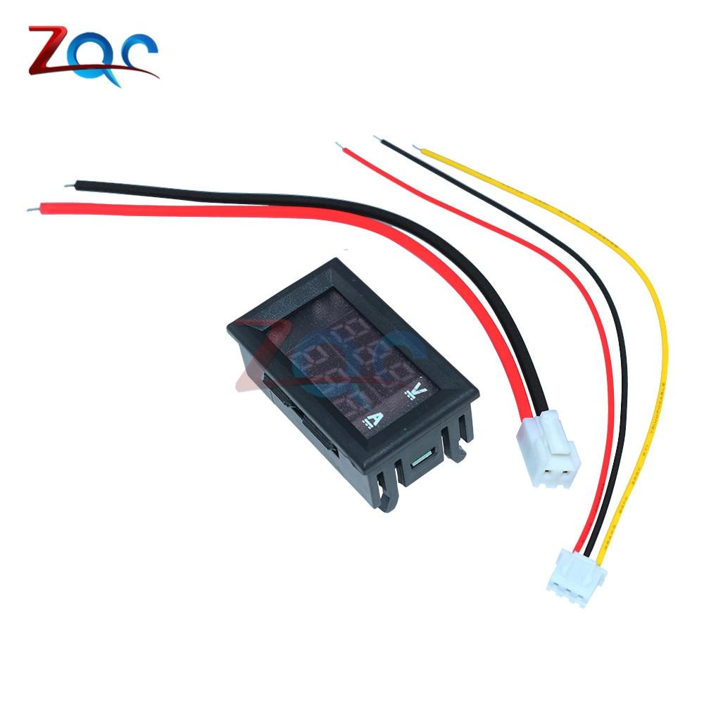 "HTB1naGLaJfvK1RjSspoq6zfNpXav Mini Digital Voltmeter Ammeter DC 100V 10A Panel Amp Volt Voltage Current Meter Tester Detector 0.56"" Dual LED Display Auto Car"