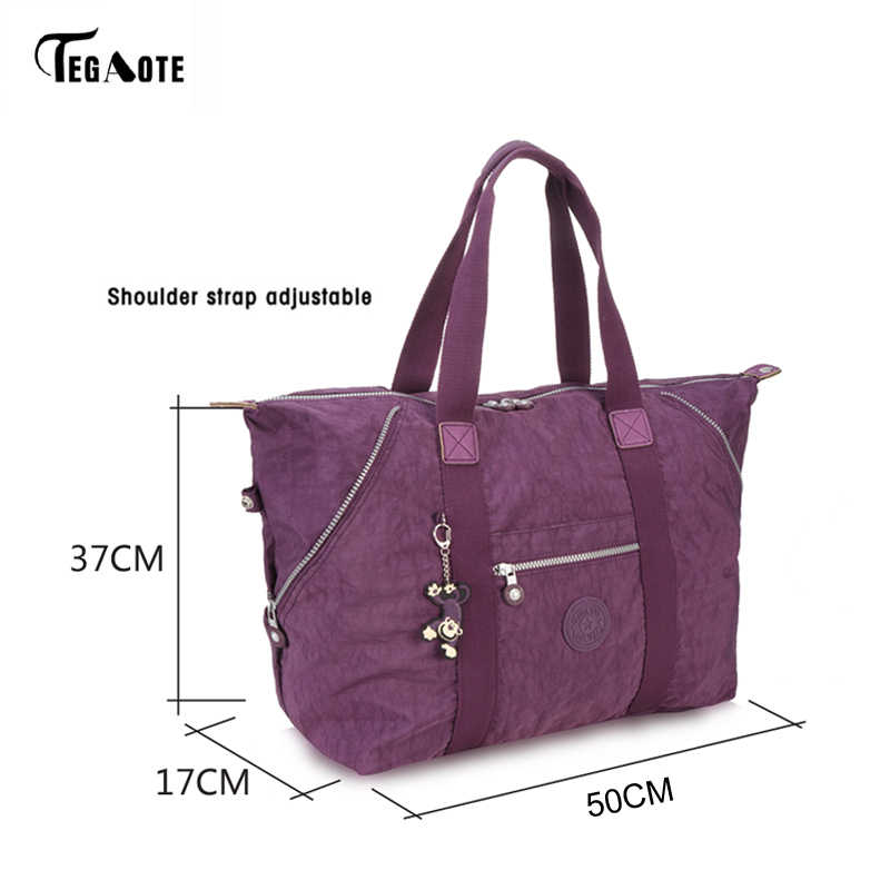 TEGAOTE Top-griff Tasche Handtaschen Frauen Berühmte Marke Big Nylon Schulter Strand Tasche Casual Tote Weibliche Geldbörse Sac Femme bolsa Feminia