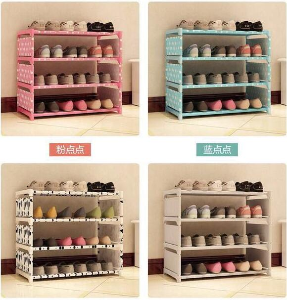 Armoire à chaussures Simple armoire à chaussures anti-poussière pour recevoir une seule rangée armoire à chaussures de grande capacité étagère à chaussures simple pôle