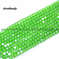 1000pcs Green 3mm Square Cube Spacer Austria Crystal Beads For DIY Jewelry Making