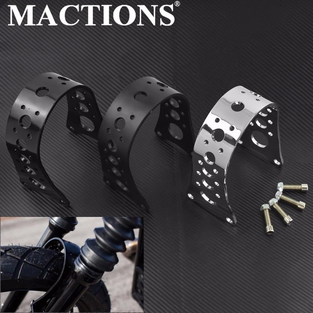 MACTIONS Motorcycle Front Forks Brace Narrow Glide Fender For Harley Sportster 883 1200 XL 1998 2003