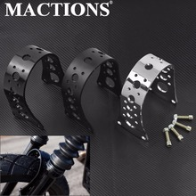 Motorcycle Front Fork Brace Fender Glide Hollow Pattern For Harley Sportster Iron 883 1200 XL Deluxe Nightster Dyna Low Rider