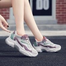 Fashion Platform Shoes Leather Sneakers Women 2018