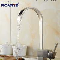 Square ORB Kitchen Faucet 360 Degree Rotation Kitchen Single Handle Sink Hot Cold Water Mixer Tap