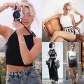 Новая Мода Сексуальные Женщины Bodycon Push Up Растениеводство топы Рукавов Сексуальная Лето Топы 5 Цвета Топы Жилет